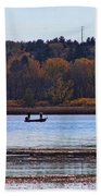 Lake Wingra Fishing Beach Towel