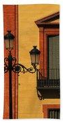 Lamp And Window In Sevilla Spain Beach Towel