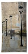 Lamp Posts And Concrete Beach Towel
