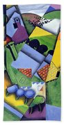 Landscape And Houses At Ceret Beach Towel