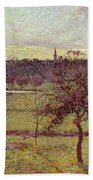 Landscape At Eragny Beach Towel