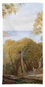 Landscape With View Of Lerici Beach Towel