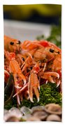 Langoustines At The Market Beach Towel