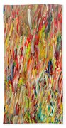 Large Acrylic Color Study 2012 Beach Towel