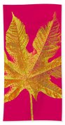 Large Leaf Photoart Beach Towel