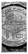 Las Vegas Strip Street Medallion Beach Towel