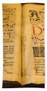 Latin Hymnal 1700 Ad Beach Towel