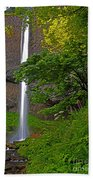 Latourell Falls Oregon - Posterized Beach Towel