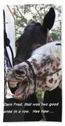 Laughing Horse Beach Towel