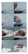 Launching The Lifeboat Beach Towel