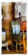 Laundry Drying In Kitchen Beach Towel by Susan Savad