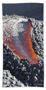 Lava Flow On The Flank Of Pacaya Beach Towel