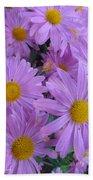 Lavender Mum Bouquets Beach Towel