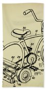 Lawnmower Tricycle Patent Beach Towel