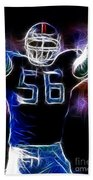 Lawrence Taylor  Beach Towel by Paul Ward