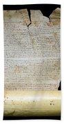 Lawsuit Of The Cathedral Chapter Of Calahorra. Pleito Del Cabildo Catedralicio De Calahorra Beach Towel