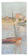 Le Clipper - Asnieres Beach Towel by Paul Signac