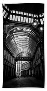 Leadenhall Market Black And White Beach Towel