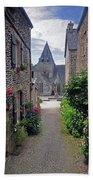 Leading To The Church Provence France Beach Towel