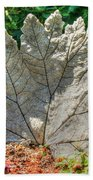 Leaf Art Beach Towel