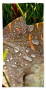 Leaf Beads Beach Towel