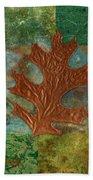 Leaf Life 01 - Green 01b2 Beach Towel