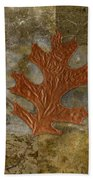 Leaf Life 01 -brown 01b2 Beach Sheet