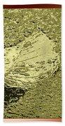 Leaf Mytallique Beach Towel
