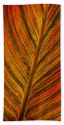 Leaf Pattern Abstract Beach Towel