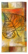 Leaf Whisper 4 Beach Towel