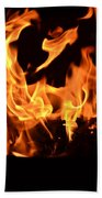 Leaping Flames Beach Towel