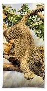 Leaping Leopard Beach Towel