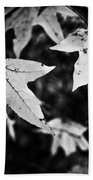 Leaves Without Color Beach Towel