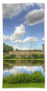 Leeds Castle Reflected Beach Towel