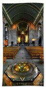 Leeds Cathedral Baptismal Font And Nave Beach Towel