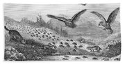 Lemming Migration Beach Towel