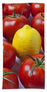 Lemon And Tomatoes Beach Towel