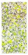 Lemon Lime Abstract Beach Towel