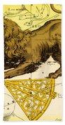 Leo, The Hevelius Firmamentum, 1690 Beach Towel by Science Source