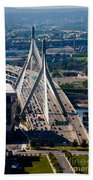 Leonard Yakim Bunker Hill Memorial Bridge Beach Towel