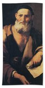Leucippus, Ancient Greek Philosopher Beach Towel by Science Source