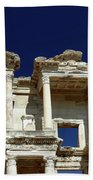 Library Of Celsus In Ephesus Beach Towel by Sally Weigand