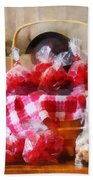 Licorice And Chocolate Covered Peanuts Beach Towel by Susan Savad
