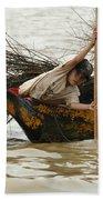 Life On Lake Tonle Sap 3 Beach Towel