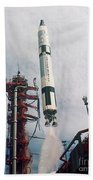 Lift-off Of Gemini-titan 11, Cape Beach Towel