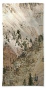 Light And Shadows In The Grand Canyon In Yellowstone Beach Towel