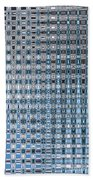 Light Blue And Gray Abstract Beach Towel