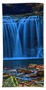 Light Blue Falls Beach Towel