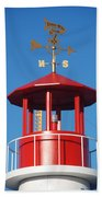 Light House On Coney Island Beach Towel