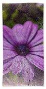 Light Purple Daisy Beach Towel